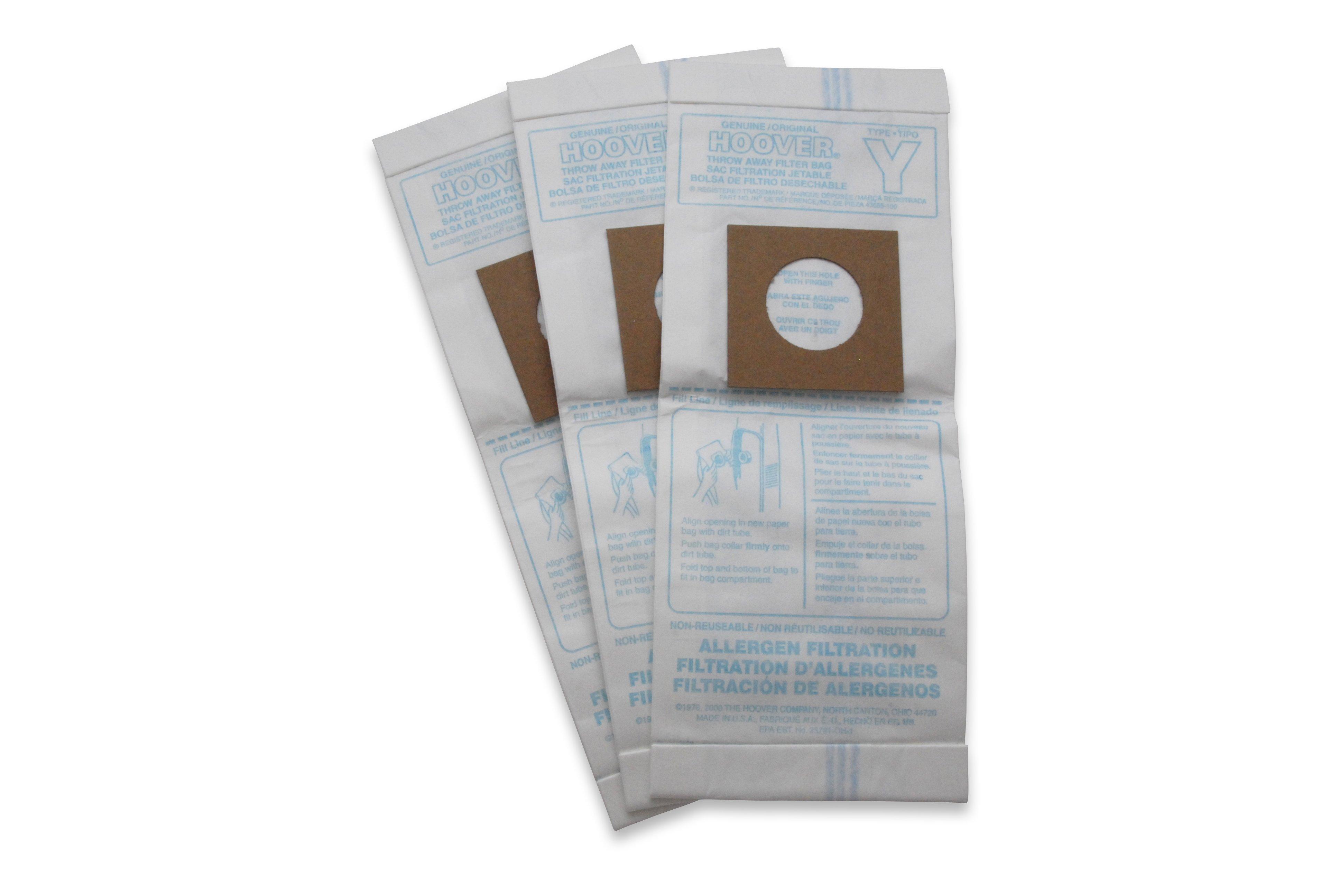 Type Y Allergen Bag - 3 Pack3