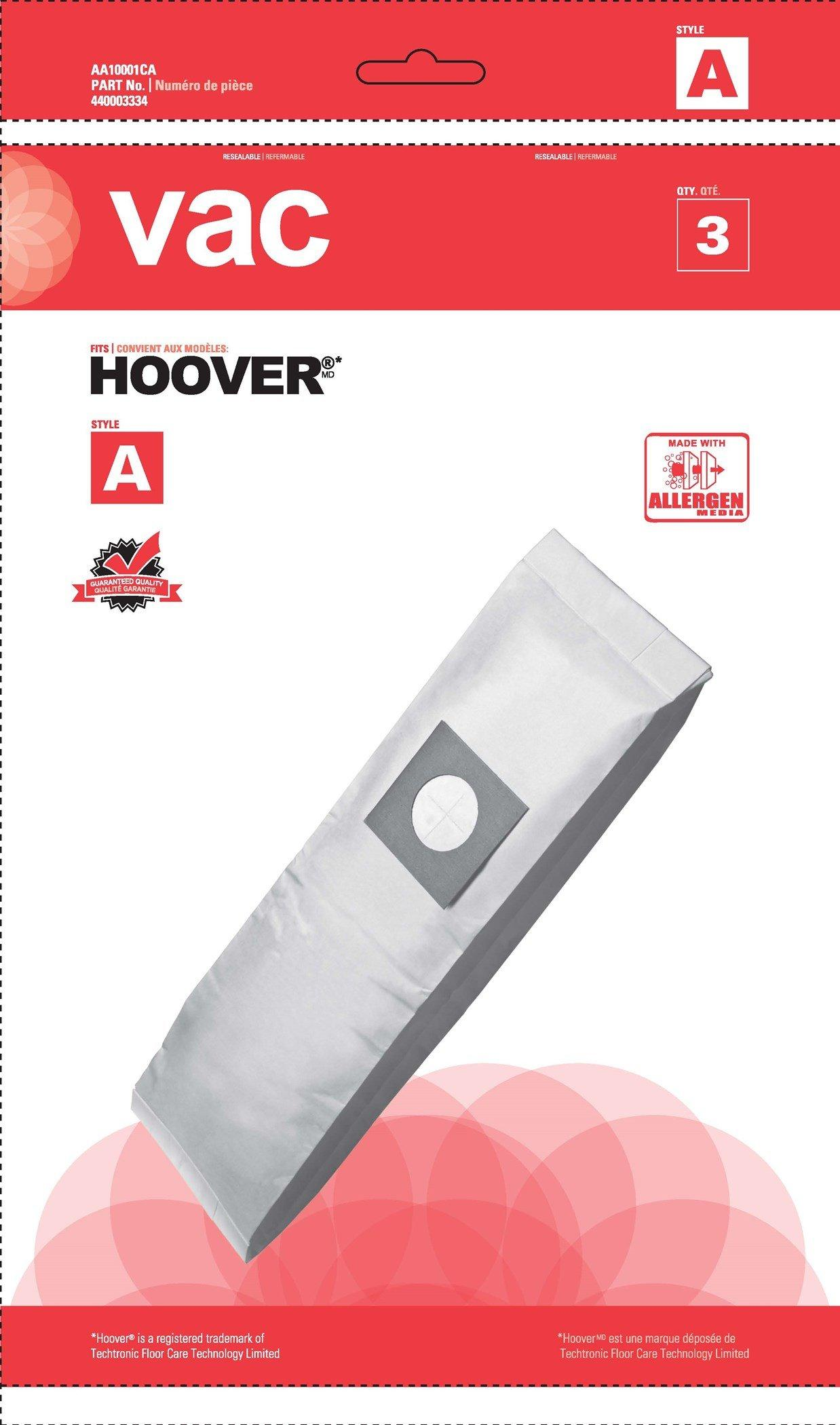 Vac Hoover Bag-A