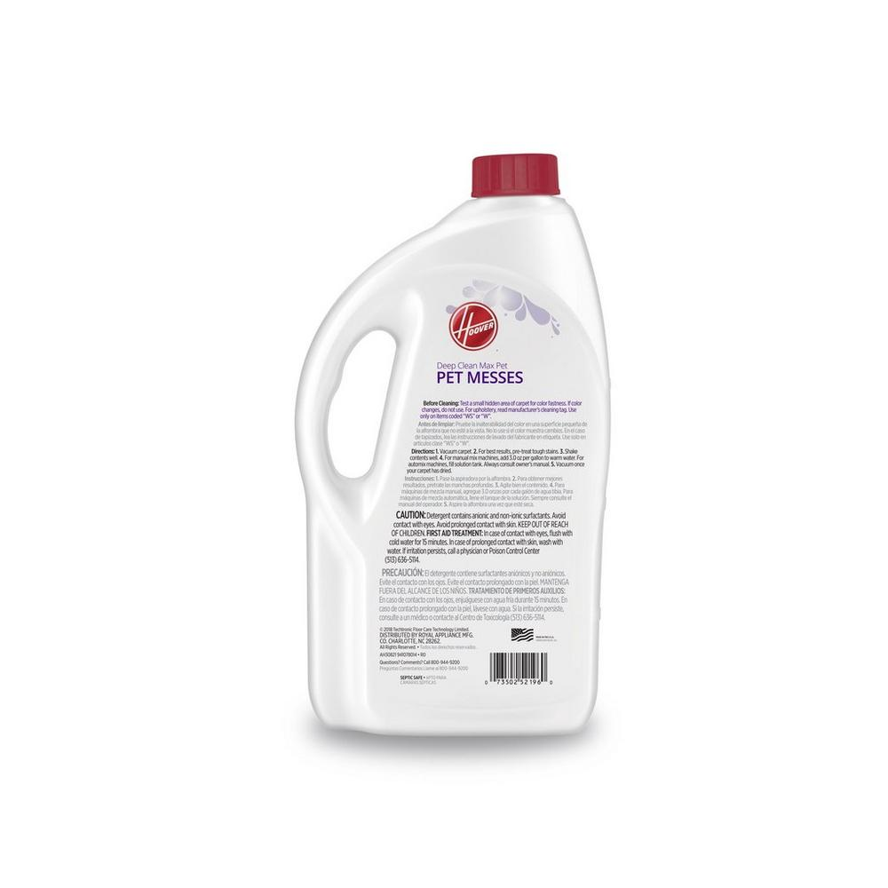 Hoover Deep Clean Max Pet Carpet Cleaning Solution 64oz2