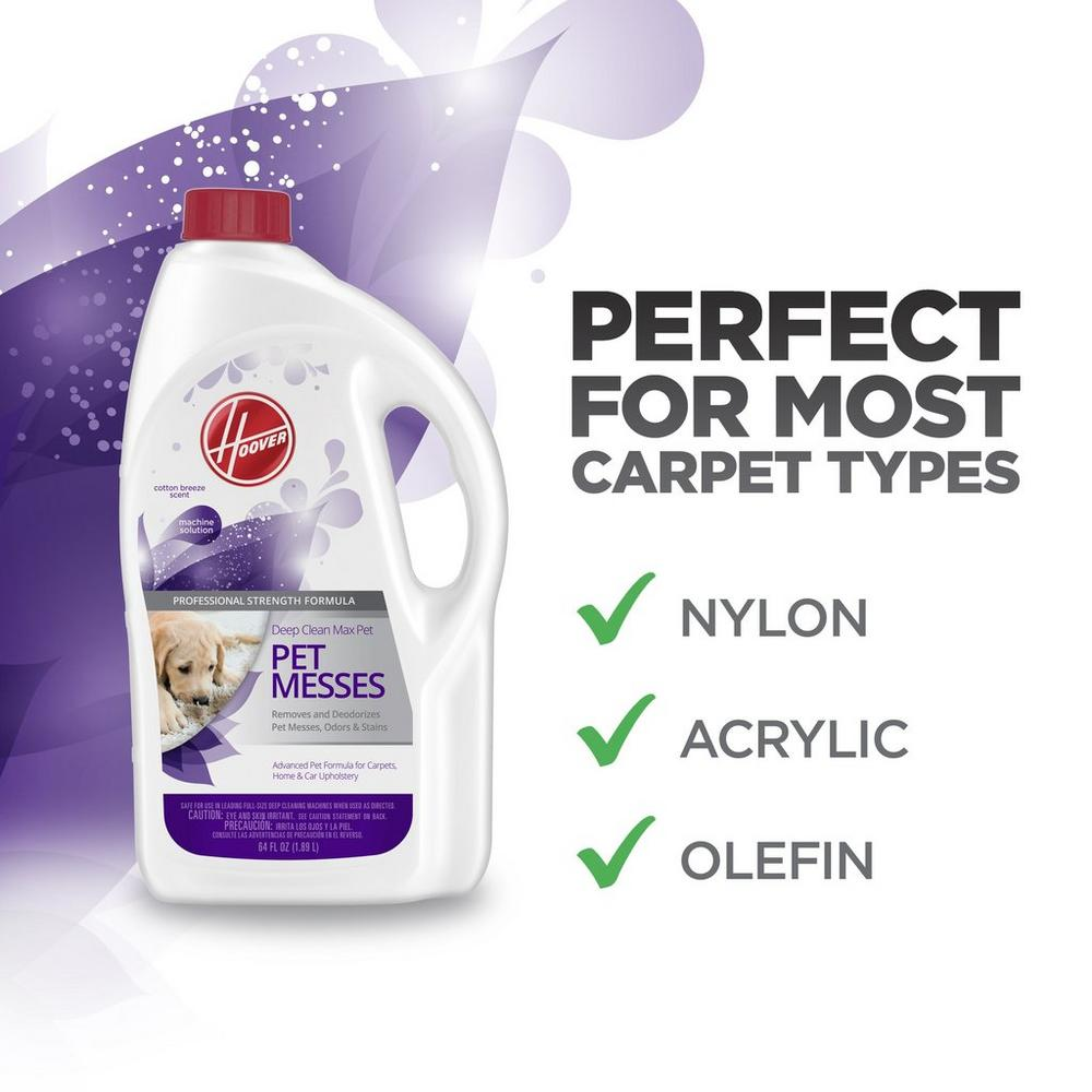 Hoover Deep Clean Max Pet Carpet Cleaning Solution 64oz3