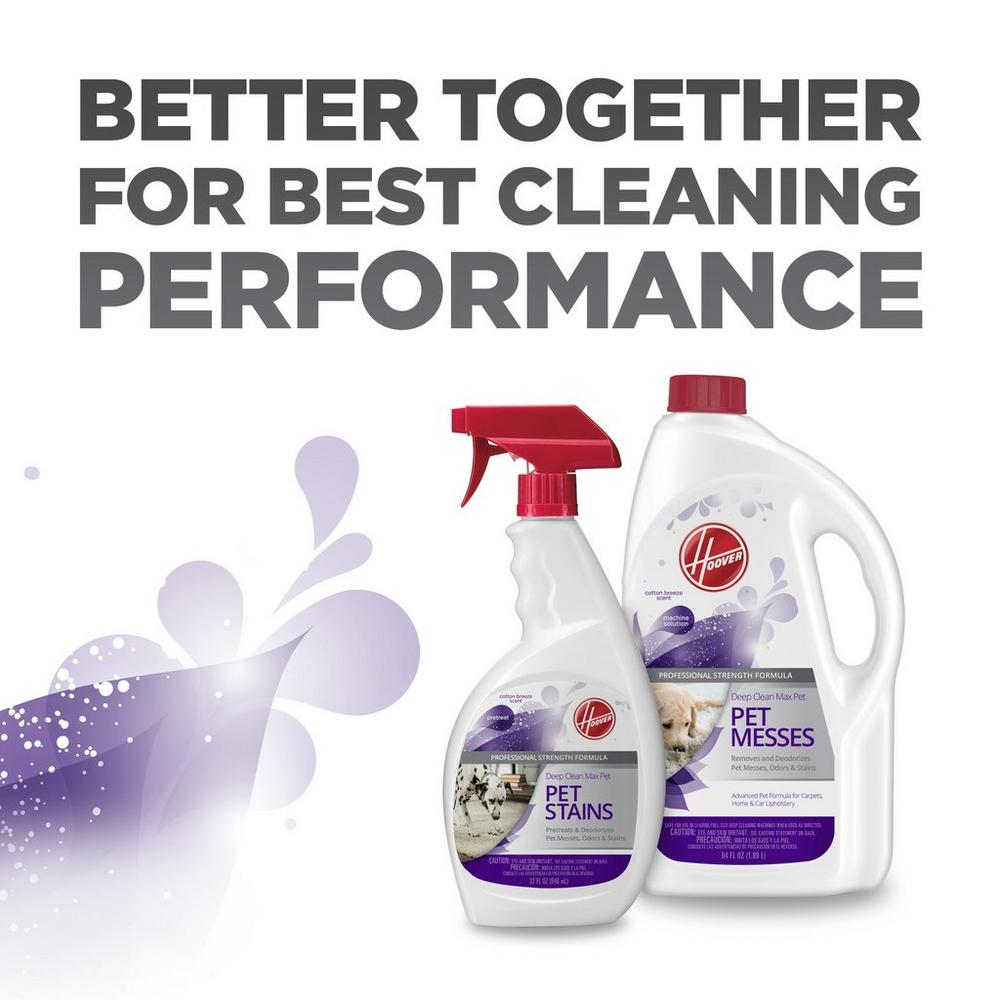 Hoover Deep Clean Max Pet Carpet Cleaning Solution 64oz5