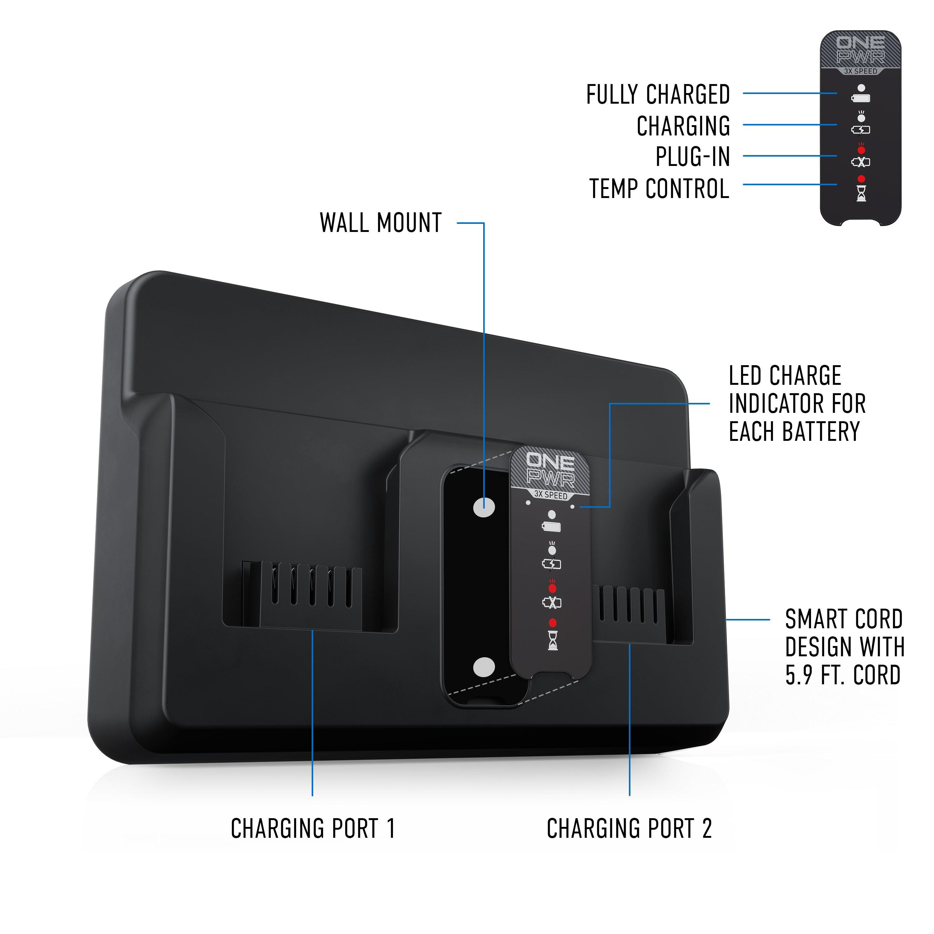 ONEPWR Dual Bay Battery Charger3