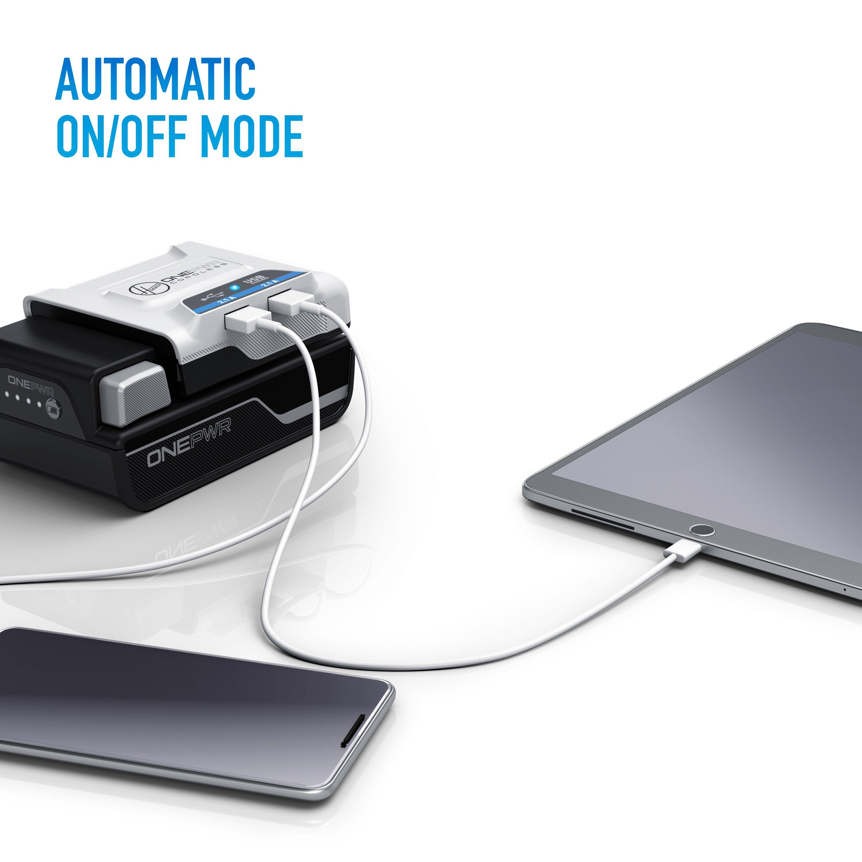 ONEPWR Cordless Dual USB Charger7