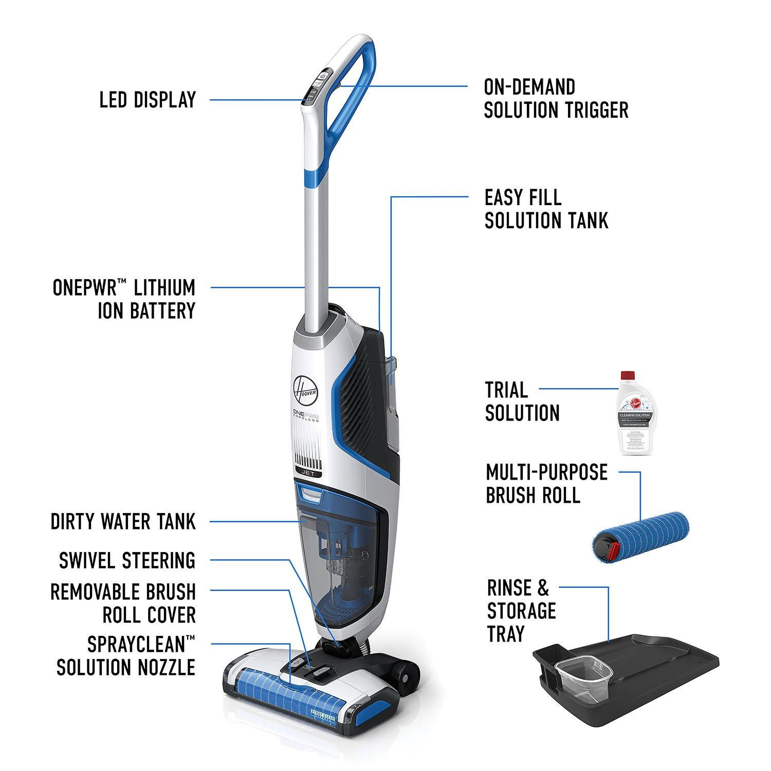 ONEPWR FloorMate JET Cordless Hard Floor Cleaner - Kit11