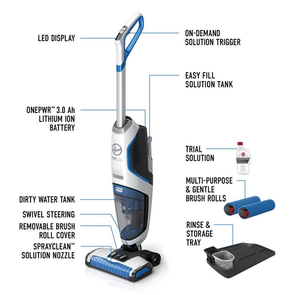 ONEPWR FloorMate JET Cordless Hard Floor Cleaner - Kit - BH55240CDI