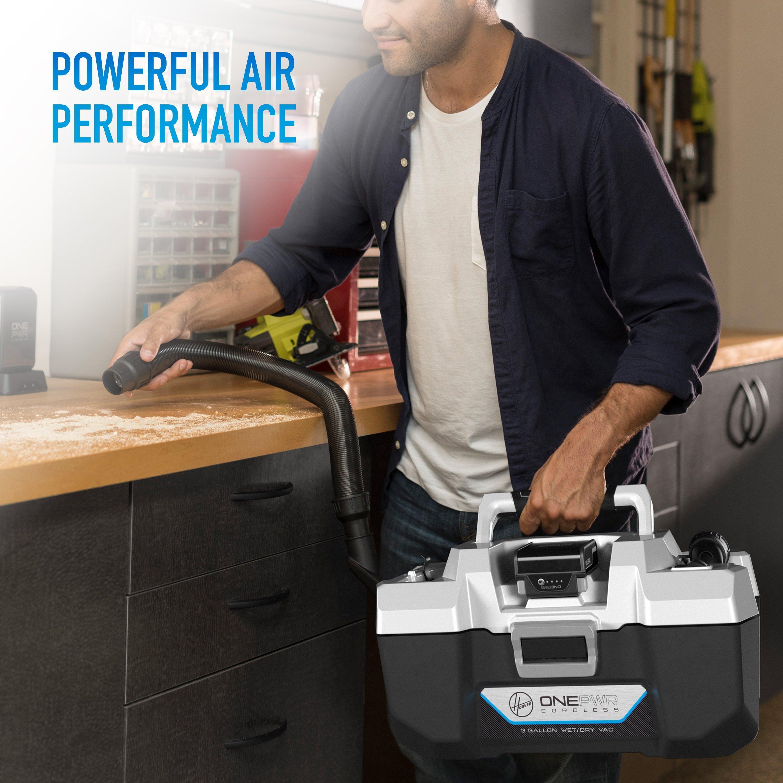 ONEPWR Wet/Dry Cordless Utility Vacuum - Kit3