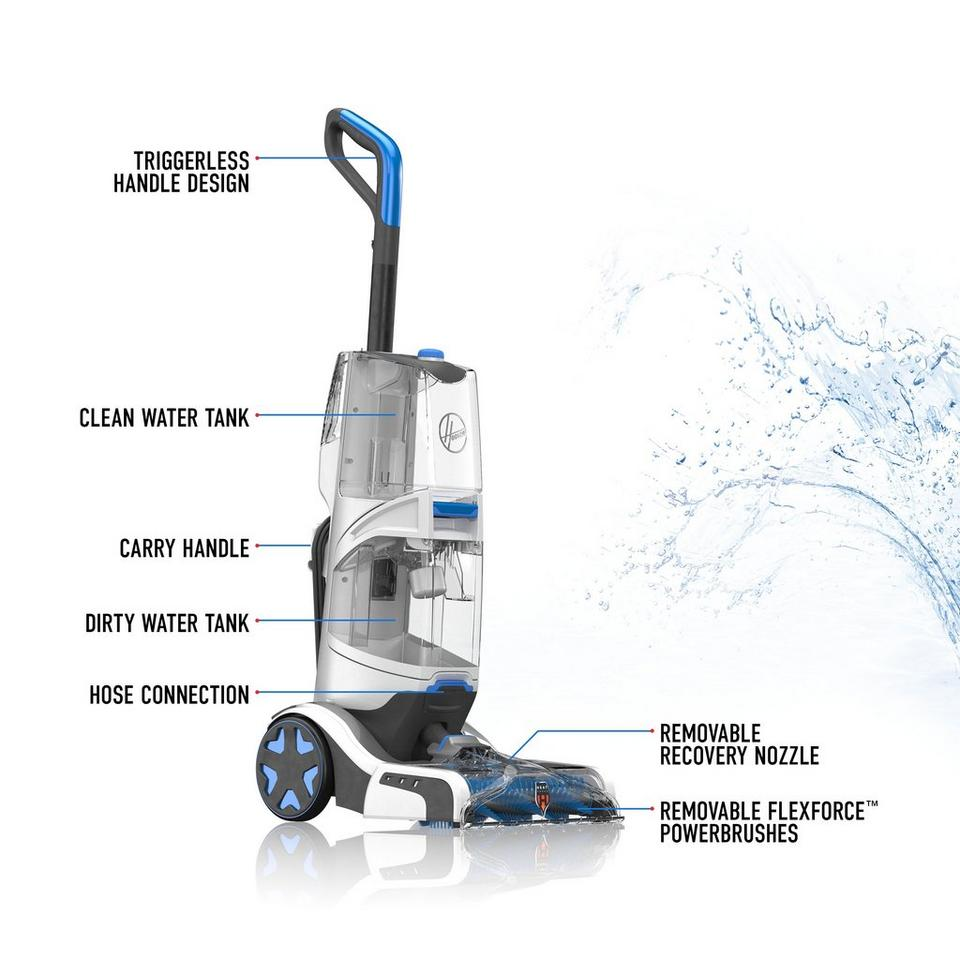 Smartwash Automatic Upright Carpet Cleaner Fh52001 Hoover