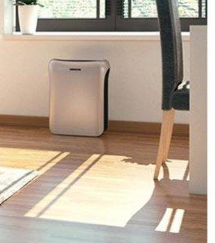 Air purifier in a clean, sunlit room