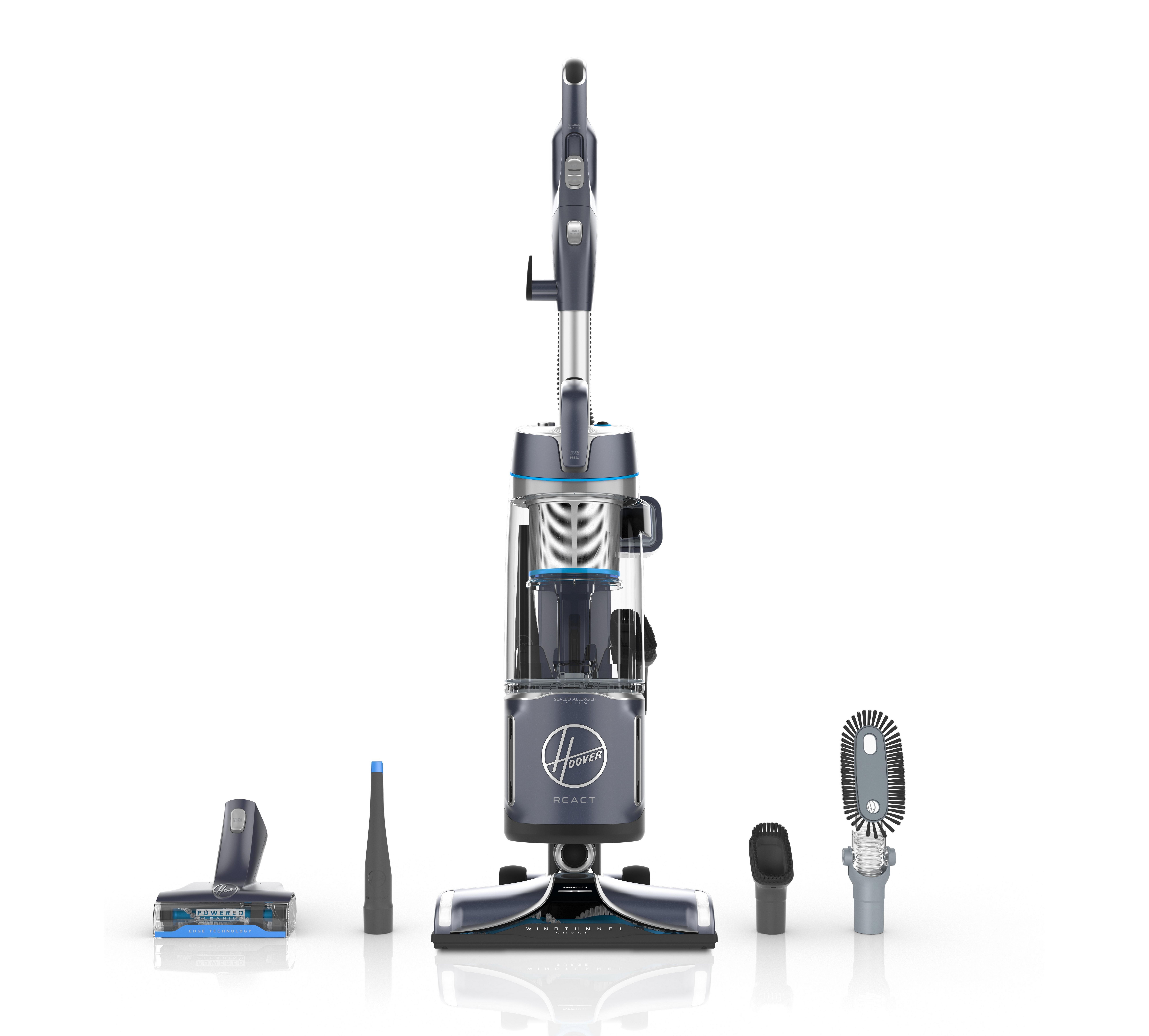 REACT Powered Reach Plus Upright Vacuum