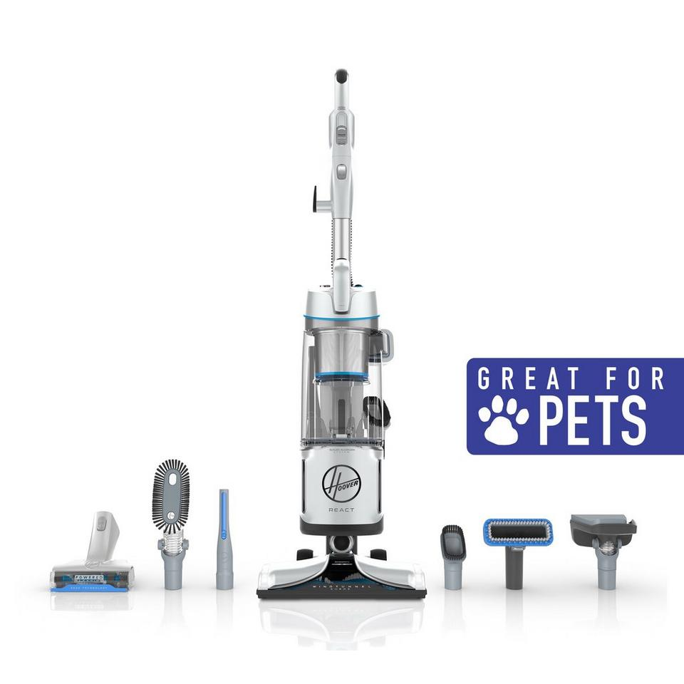 REACT Powered Reach Premier Pet Upright Vacuum